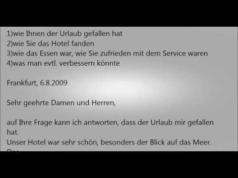 Wie Schreibt Man Einen Brief Für B1 Archives German Akademie