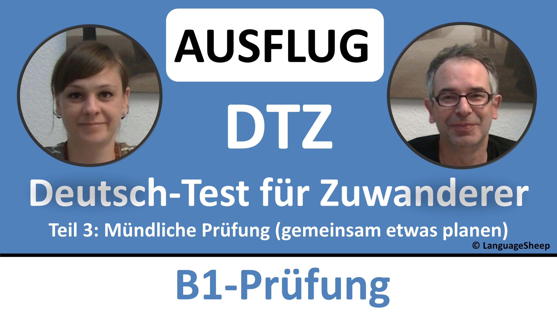 Deutsch lernen: B1-Prüfung (DTZ) - mündliche Prüfung