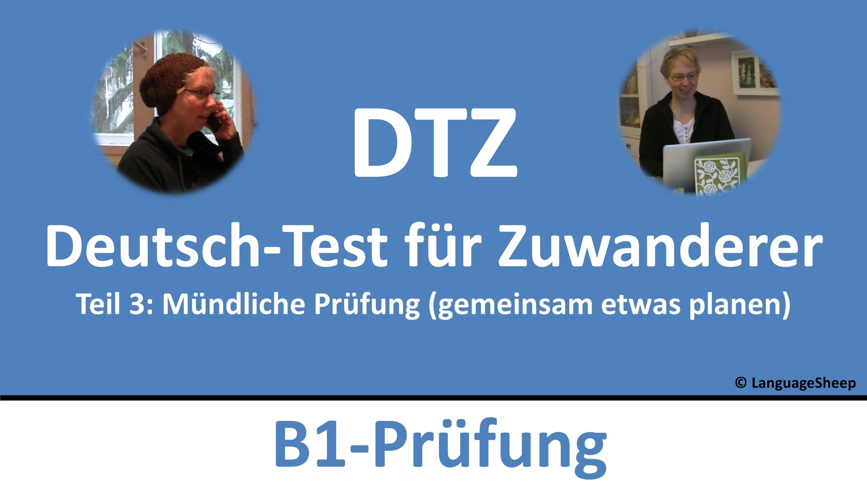 Deutsch Lernen B1 Prüfung Dtz Mündliche Prüfung Gemeinsam