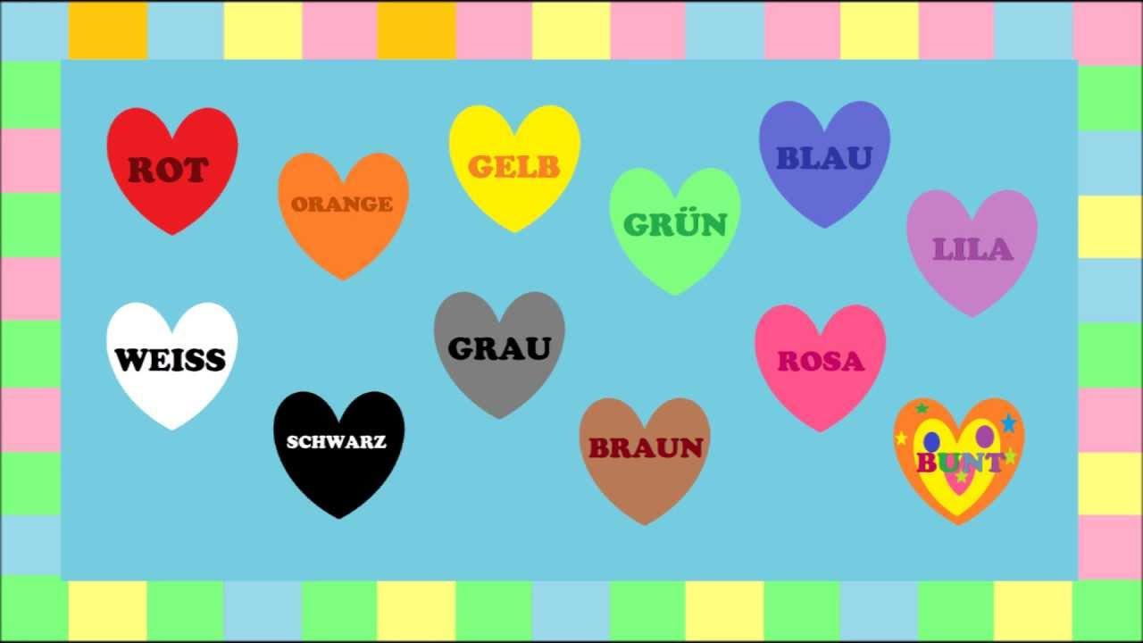 Farben Für Kinder.Deutsch Lernen Farben Ein Spiel Game Jeu De Kim