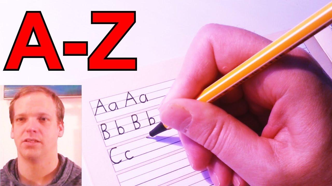 englisch alphabet buchstabieren