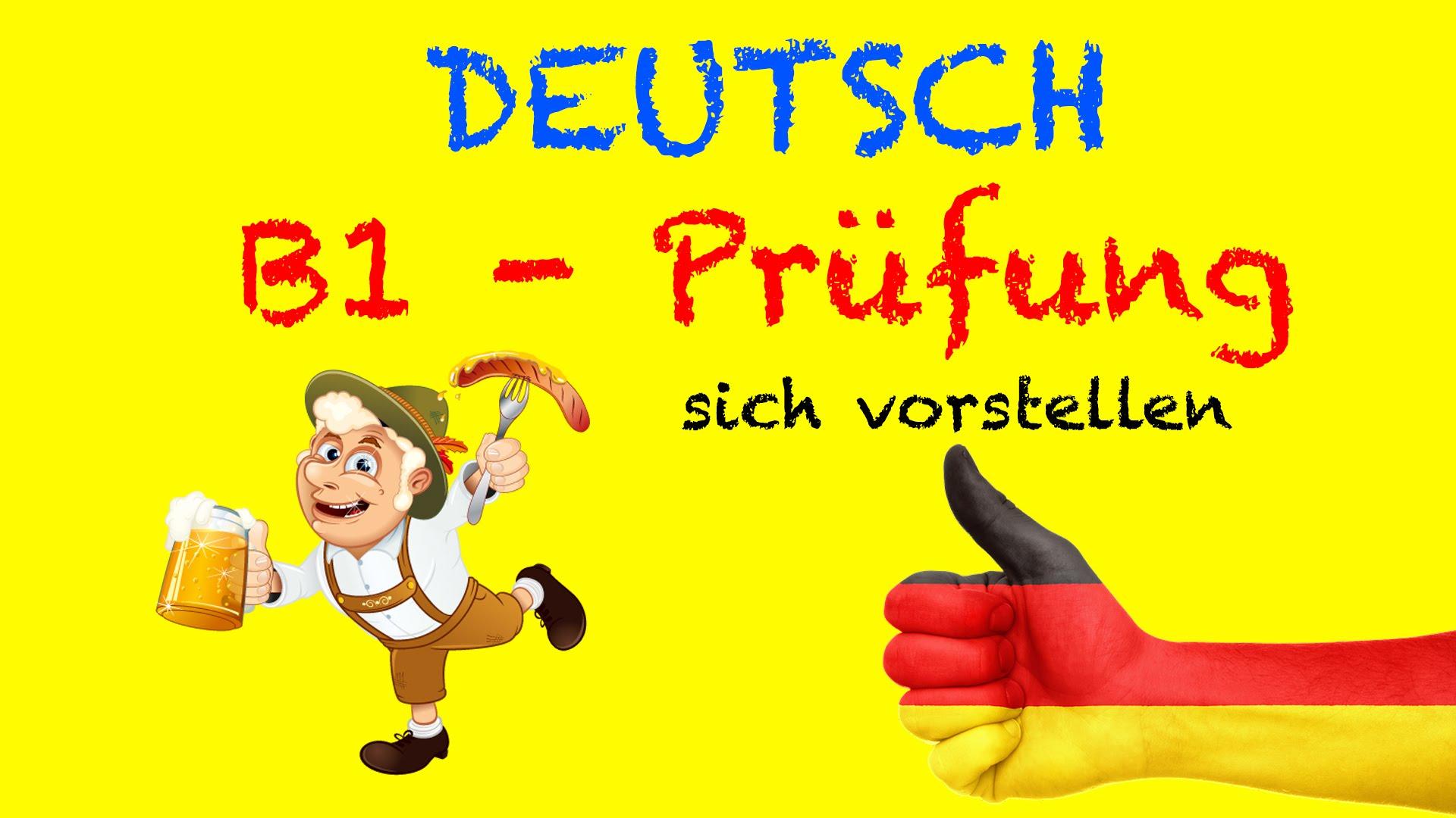 Musterbriefe Für B1 Prüfung : Deutsch b mündliche prüfung sich vorstellen