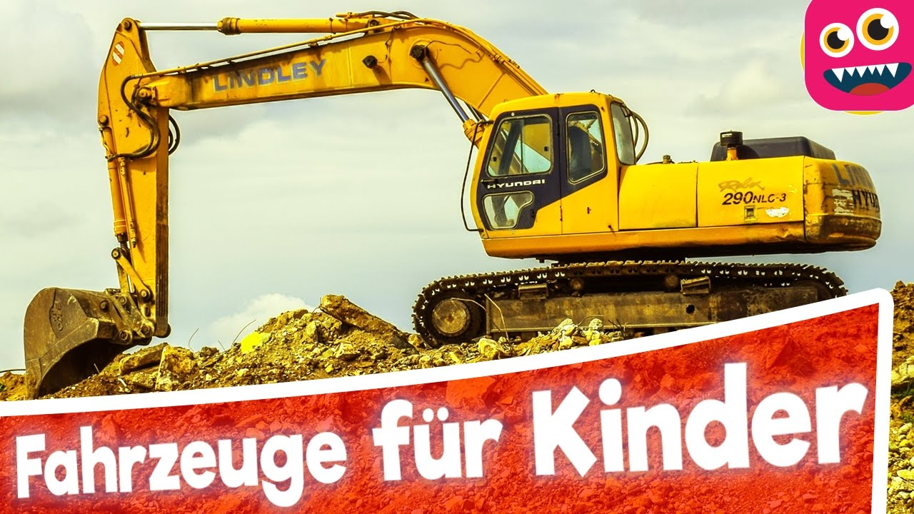 fahrzeuge lernen f r kleinkinder in deutsch autos motorr der bagger traktoren german akademie. Black Bedroom Furniture Sets. Home Design Ideas