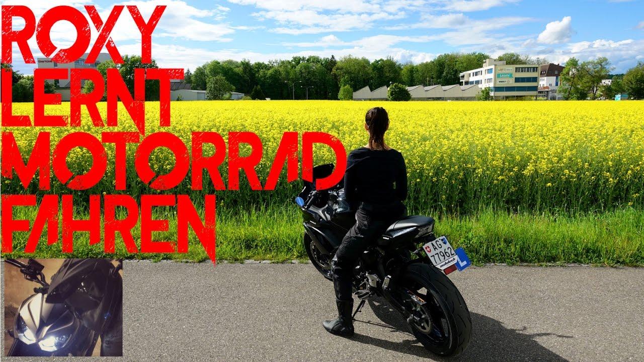 Roxys erste Fahrversuche | Motorrad fahren lernen für ...