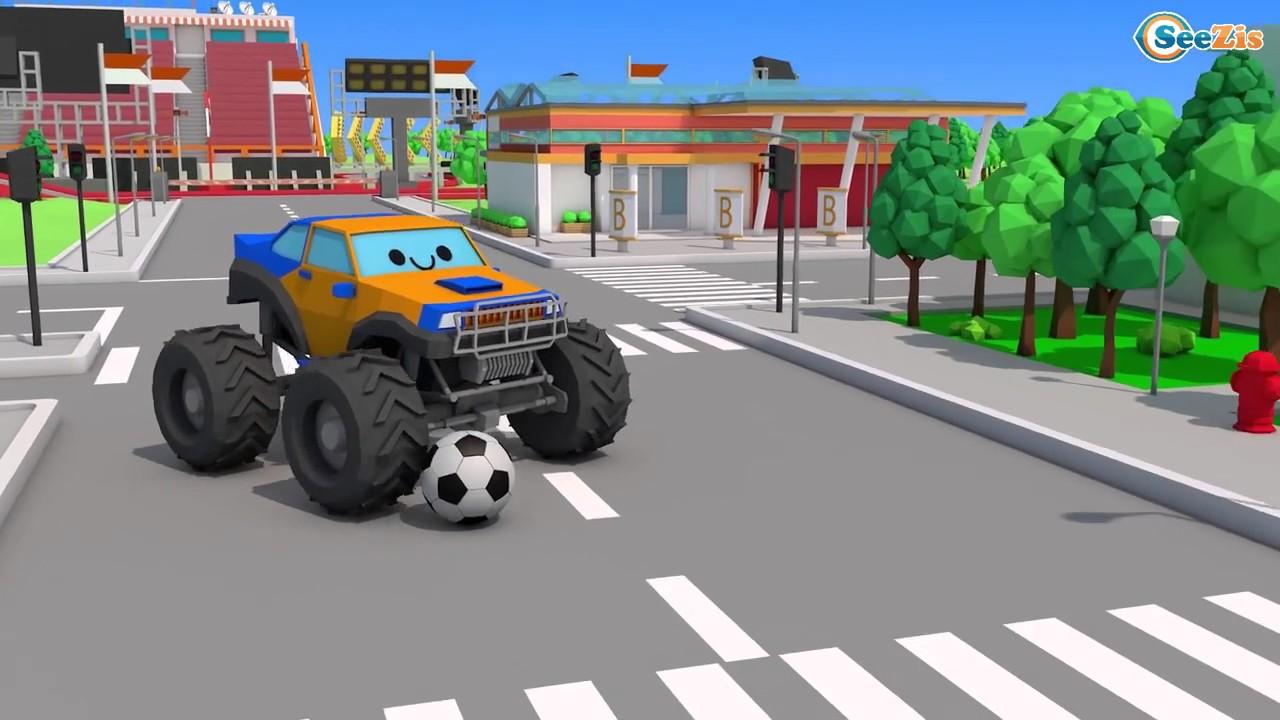 Bagger Und Traktor Zeichentrick Lernen Und Bauen Groß Auto