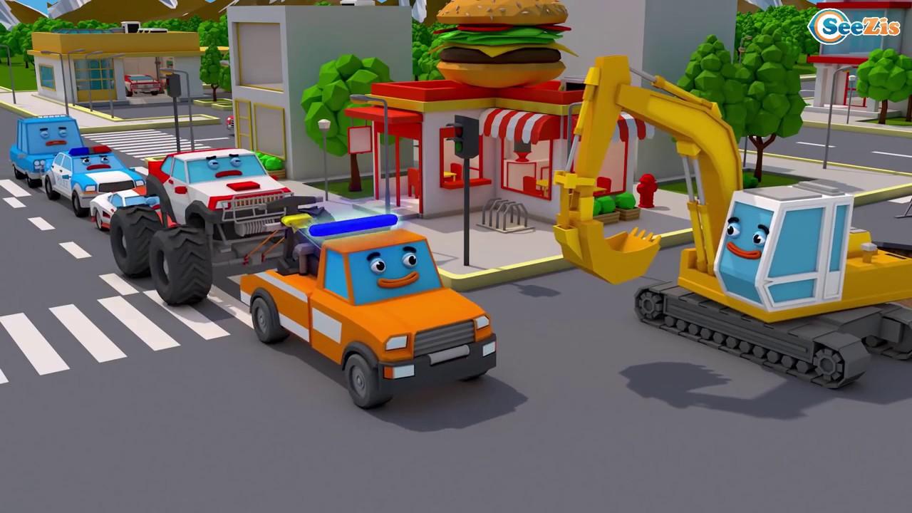 Traktor Und Bagger Lernen Und Bauen Autos Für Kinder