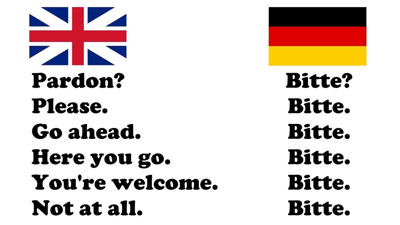 Bitte English