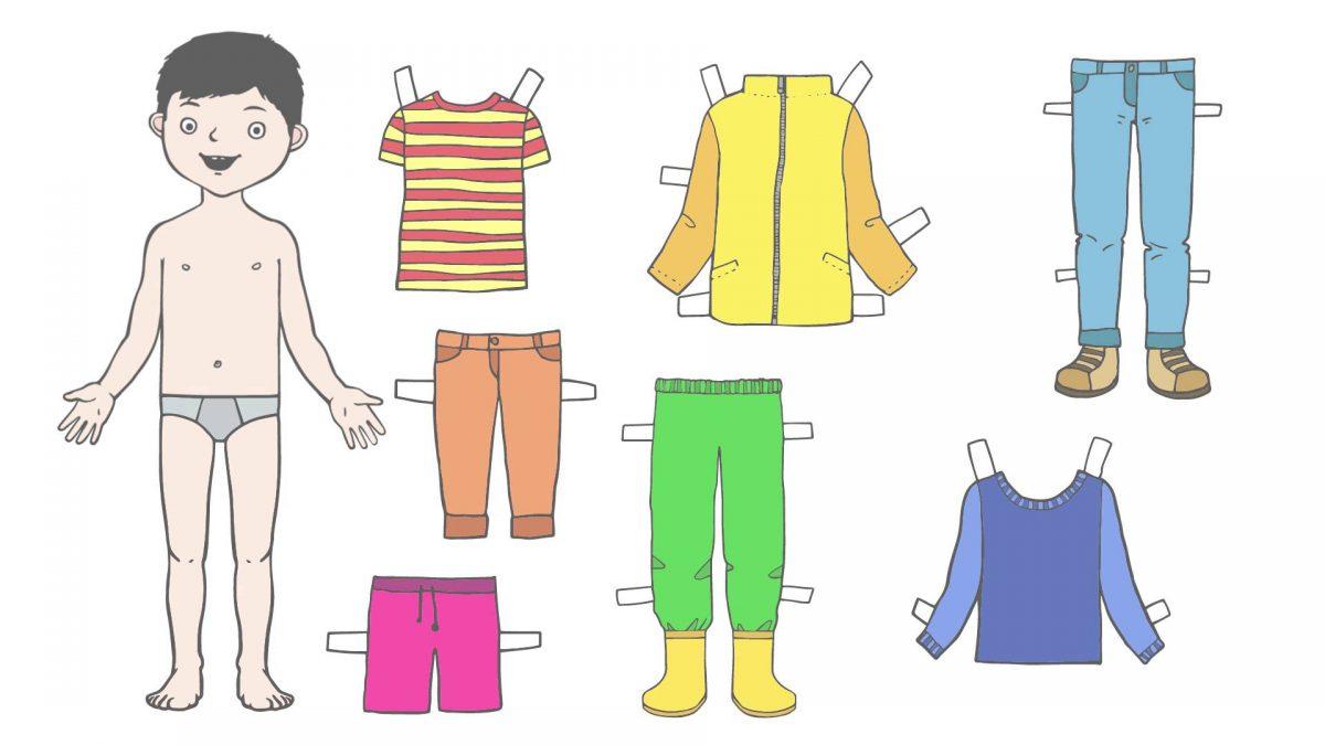 puppe zieht kleidung an  deutsch lernen für kinder