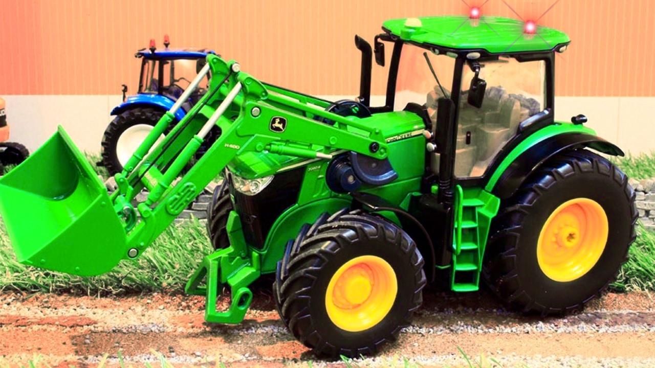 der traktor der lastwagen  lernen farben mit klugen